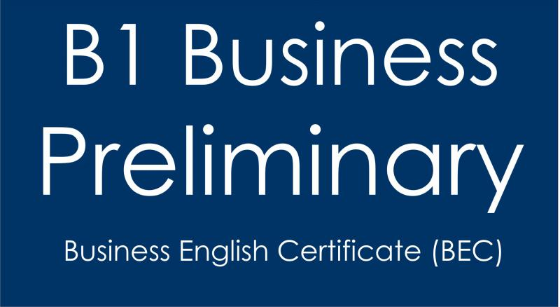 B1 Business Preliminary